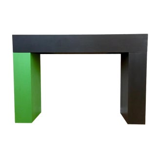 Modern Color Blocked Console Table For Sale