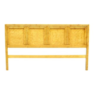 Vintage Faux Bamboo King Headboard For Sale