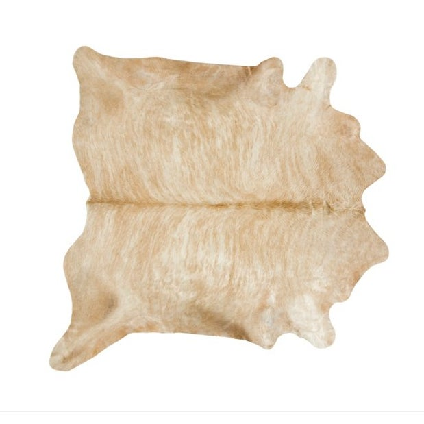 "Honey Cowhide Throw - 6' x 7'6"" - Image 1 of 2"