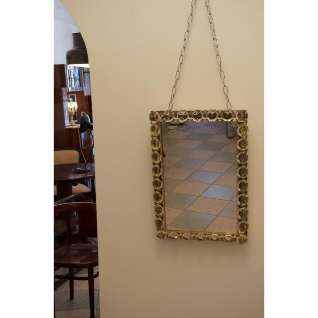 Silver Vintage crystal mirror by Bakalowits & Sohne For Sale - Image 8 of 11