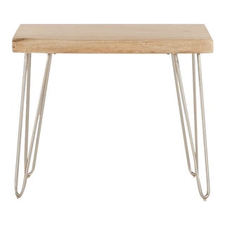 Acacia Hair Pin Side Table