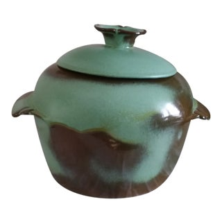 Vintage 1960's Frankoma Bean Pot Soup Tureen With Lid For Sale