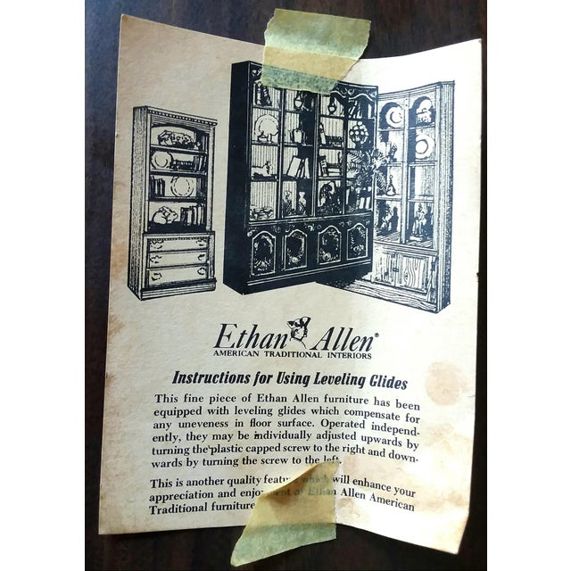 1960s 1960s Ethan Allen 6 Piece Bookcase Wall Unit For Sale - Image 5 of 9