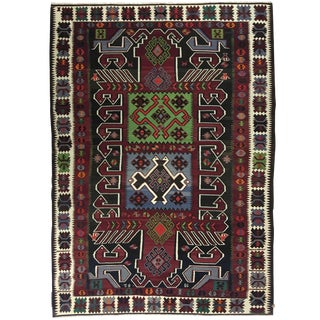Dated Vintage Animal Designs Kuba Kilim | Rare Large Dowry Kilim For Sale