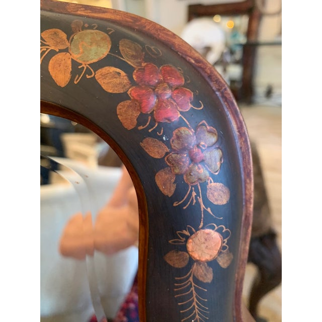 Chinoiserie Hand Painted Chinoiserie Mirrors -A Pair For Sale - Image 3 of 13