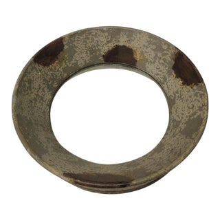 Round Metal Weathered Metal Mirror For Sale