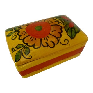 1960s Italian Ceramic Rosenthal Netter Covered Box For Sale