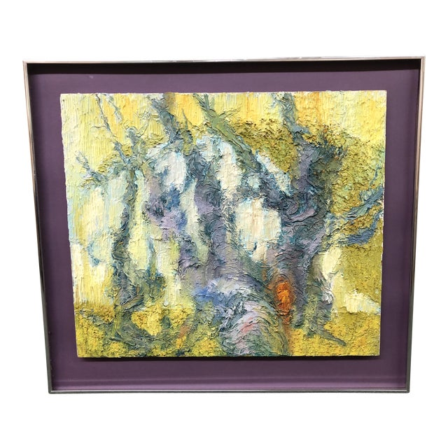 Original Abstract Textured Painting by Philip Dizick For Sale