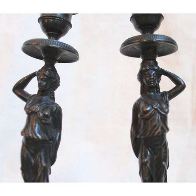 19th Century Caryatid Candlesticks - Pair For Sale In Milwaukee - Image 6 of 8