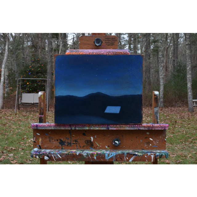 """Titled """"Under the Big Dipper"""". The glow of dusk turning to night with a lone house nestled in the mountains. This is..."""