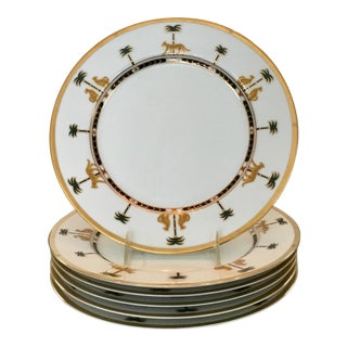 Vintage Christian Dior Dinner Plates in the Casablanca Pattern - Set of 6 For Sale
