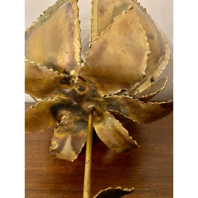 Vintage Mid-Century Friedle Style Torch Cut Floral Sculpture For Sale - Image 10 of 13