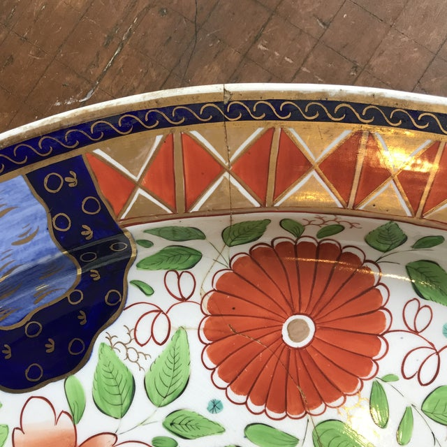 Early 19th Century 1820s Gaudy Ironstone Platters - a Pair For Sale - Image 5 of 11