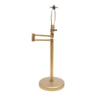 Hansen Style Modern Brass Swing Arm Table Lamp For Sale