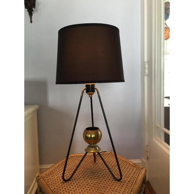 Gerald Thurston for Lightolier Hairpin Tripod Table Lamp - Image 3 of 7