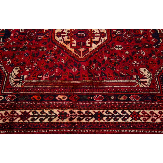 """Vintage Persian Shiraz Rug, 5'10"""" X 8'7"""" For Sale In New York - Image 6 of 9"""