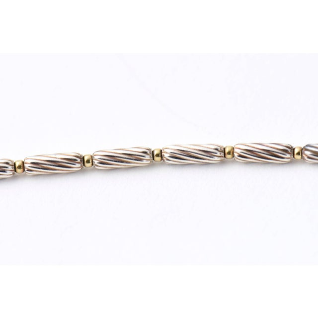 Early 21st Century David Yurman 18k Gold Bead and Sterling Cable Citrine Station Necklace For Sale - Image 5 of 11