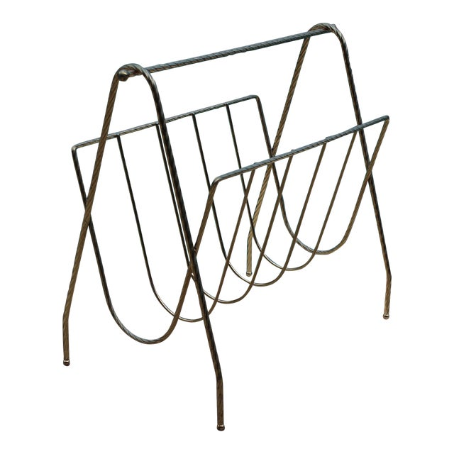 Mid-Century Magazine Rack For Sale