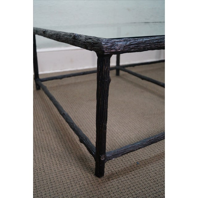 Faux Branch Coffee Table With Glass Top - Image 7 of 10
