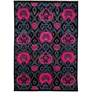 """Arts & Crafts Hand Knotted Area Rug - 6'0"""" X 8'5"""" For Sale"""