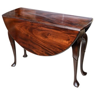 English Mahogany Drop Leaf Table For Sale