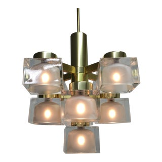 Gaetano Sciolari Ice Cube Chandelier For Sale