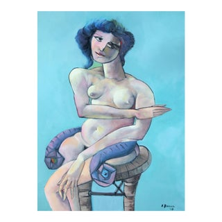 Edward Boccia Surrealist Nude With a Serpent (Lilith), 2008 For Sale