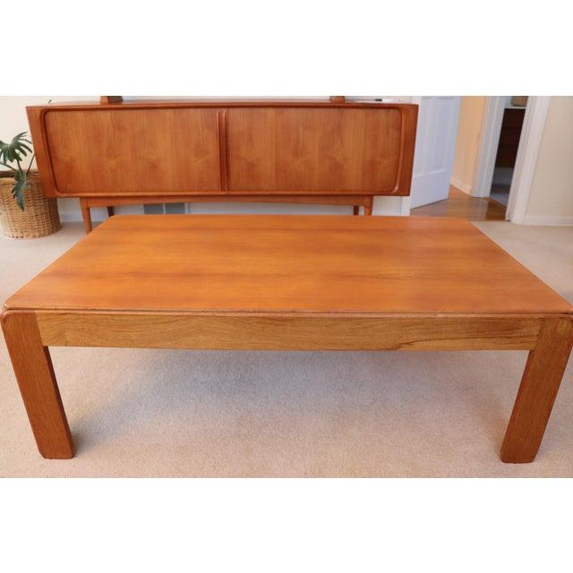 Mid-Century Modern Danish Modern Niels Eilersen Solid Teak Coffee Table For Sale - Image 3 of 6