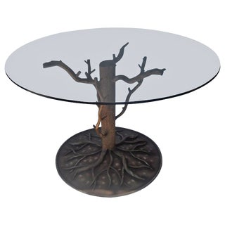 """Painted Steel """"Tree and Branch"""" Center Dining Table For Sale"""
