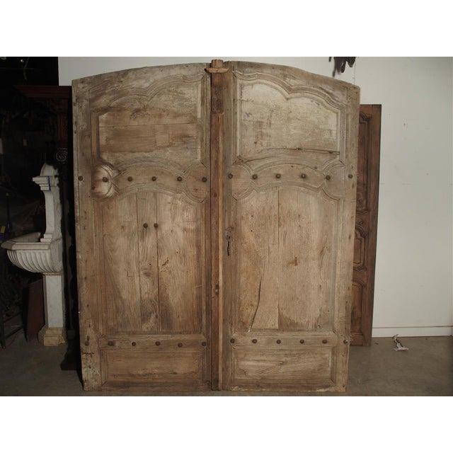 1700s Antique French Oak Doors From Burgundy- A Pair For Sale In Dallas - Image 6 of 13