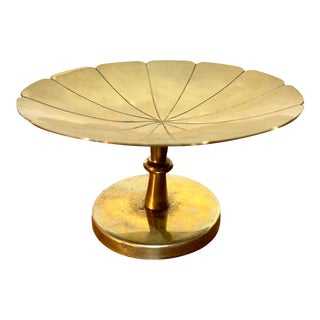 Tommi Parzinger Brass Footed Compote For Sale