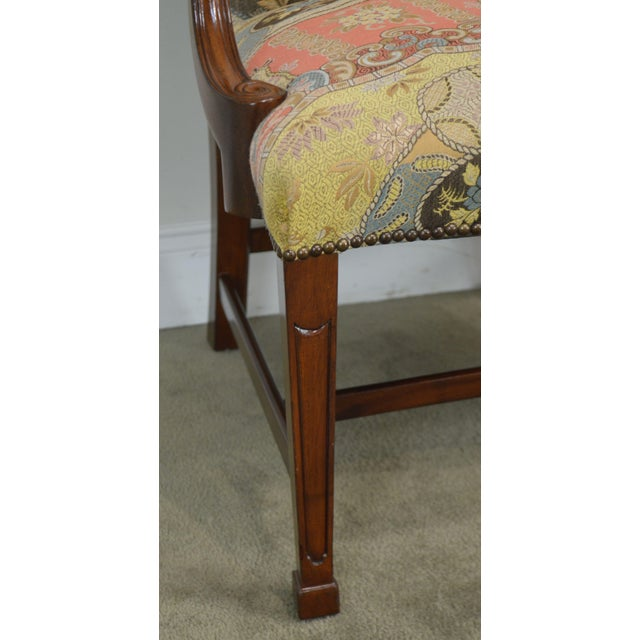 Smith & Watson Hepplewhite Mahogany Pair Open Armchairs For Sale - Image 12 of 13