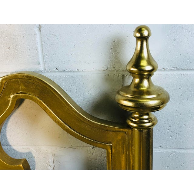 Hollywood Regency Style Gold King Size Headboard For Sale In Boston - Image 6 of 12