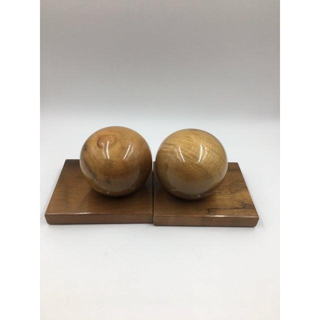 Art Deco Vintage Myrtle Wood Bookends - a Pair For Sale - Image 3 of 4