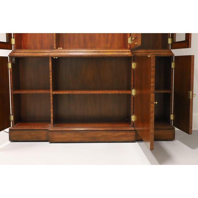 Maitland Smith Aged Mahogany Chippendale Breakfront China Cabinet For Sale - Image 9 of 13