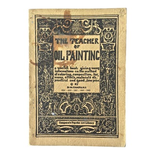 1936 the Teacher of Oil PaintingBook For Sale