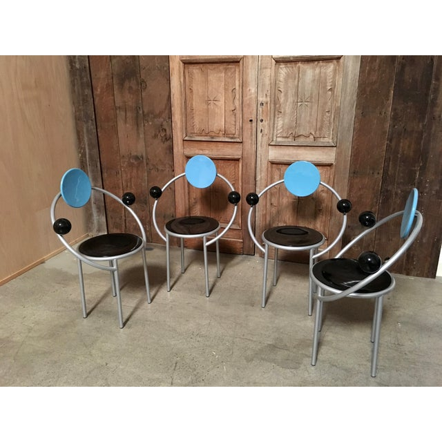 """Late 20th Century """"First Chair"""" Michele De Lucchi for Memphis Chair For Sale - Image 5 of 7"""