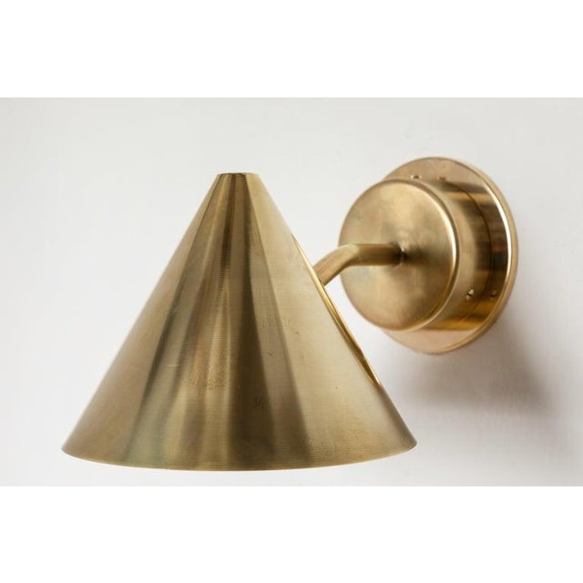 Hans-Agne Jakobsson 'Mini-Tratten' Polished Brass Outdoor Sconces - a Pair For Sale - Image 9 of 13