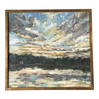 """""""Sunset Over New Hope"""" Oil by Eleanor Voorhees For Sale"""