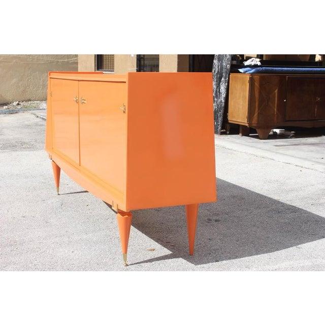 Art Deco Modern Orange Sideboard - Image 9 of 10