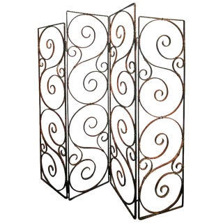 1960s Argentine Wrought Iron Screen For Sale