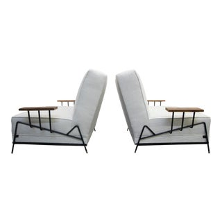1950s Mid Century California Iron Lounge Chairs - a Pair