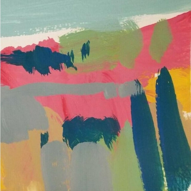 Contemporary Jose Trujillo Original Abstract Landscape Acrylic on Paper Painting For Sale - Image 3 of 5