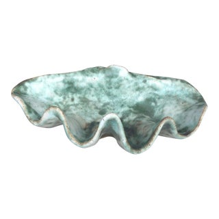 Sea Green Studio Pottery Shell Catch All For Sale