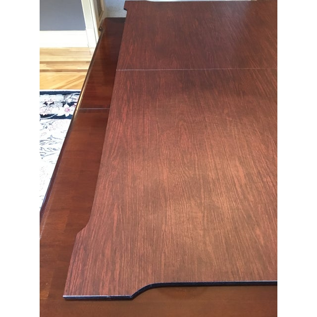 1980s 1980s Chippendale Stanley Stoneleigh Mahogany Dining Table For Sale - Image 5 of 13