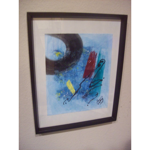 """Abstract """"The Corner of My Mind"""" Abstract Painting For Sale - Image 3 of 5"""
