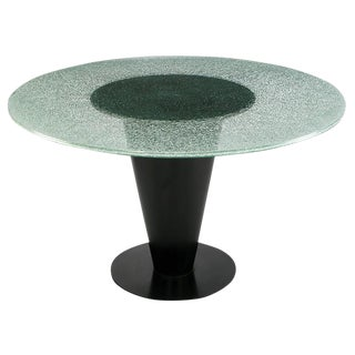 Joe D'Urso for Bieffeplast Conical Steel and Glass Dining Table For Sale