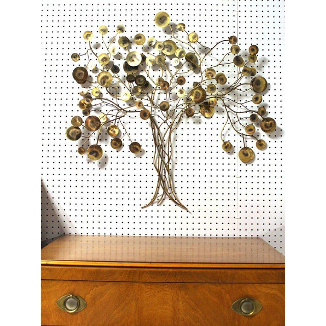 Bronze Curtis Jere Tree of Life Wall Sculpture For Sale - Image 7 of 7