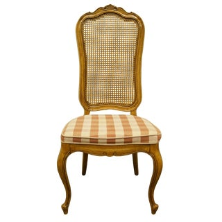Late 20th Century Thomasville Furniture Camille Collection Cane Back Dining Side Chair For Sale