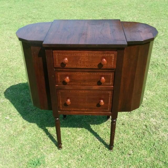 1920s Martha Washington Mahogany Sewing Cabinet For Sale - Image 10 of 10